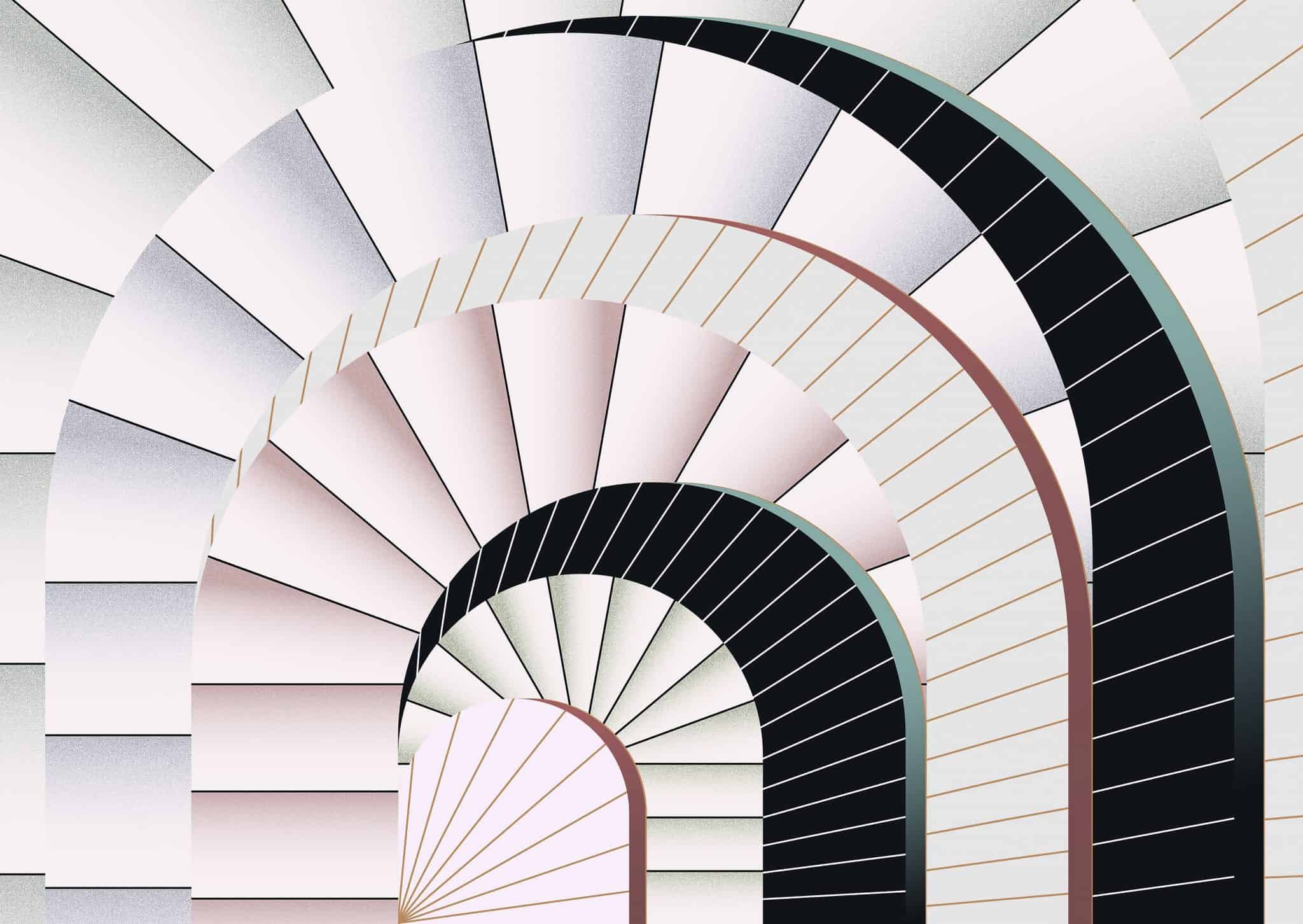 Wallpaper design with arches pattern by Texturae