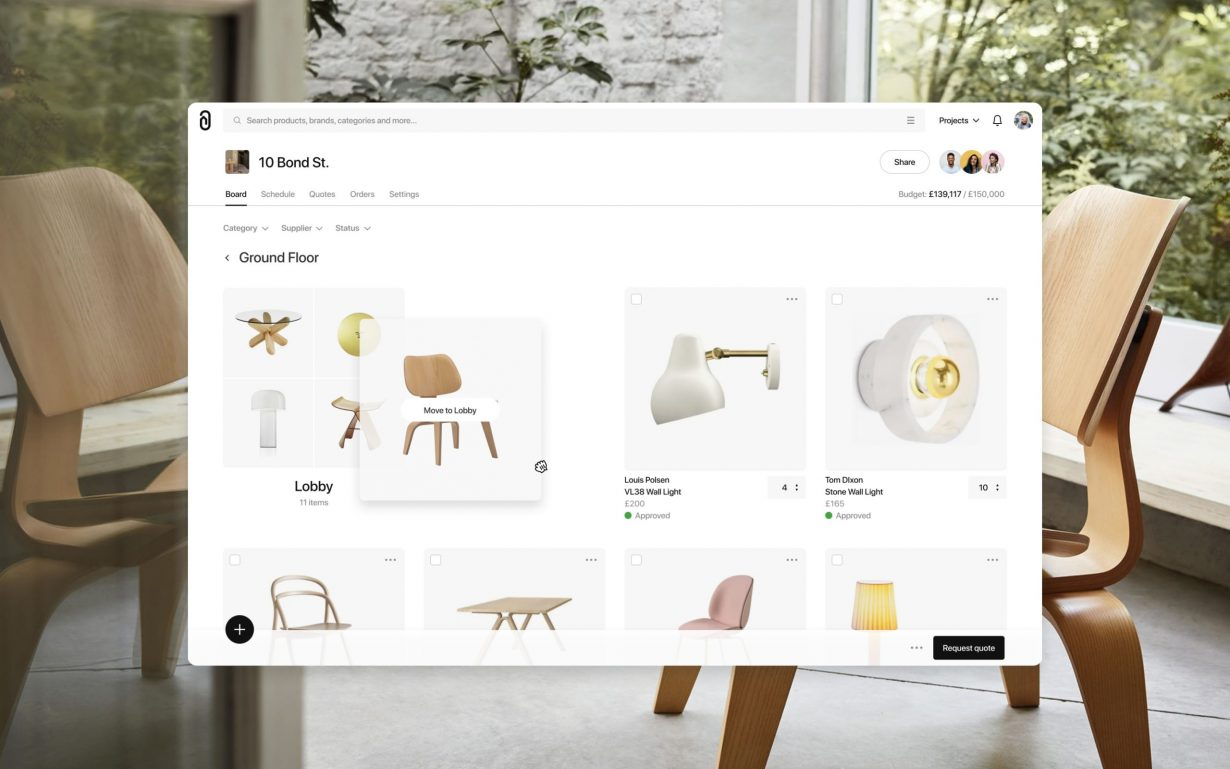 Sourcing furniture and lighting just got easier