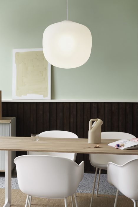 Rime Pendant Light over a dining table from Muuto