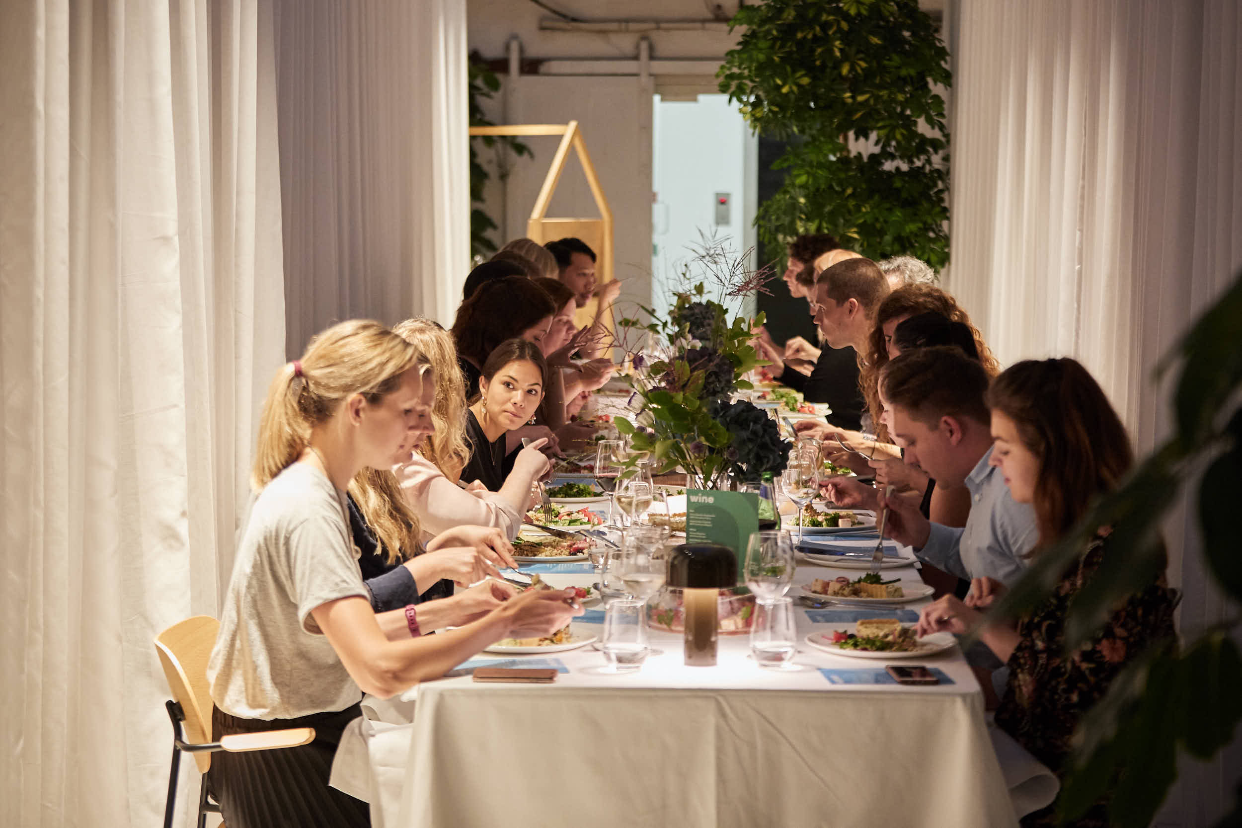 Workshop Supper Club at our London office