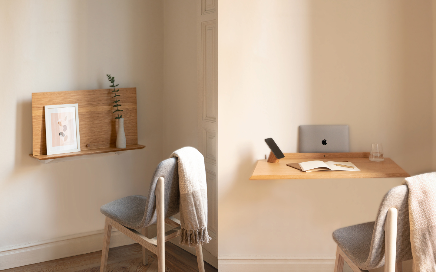 Bright wood folding desk
