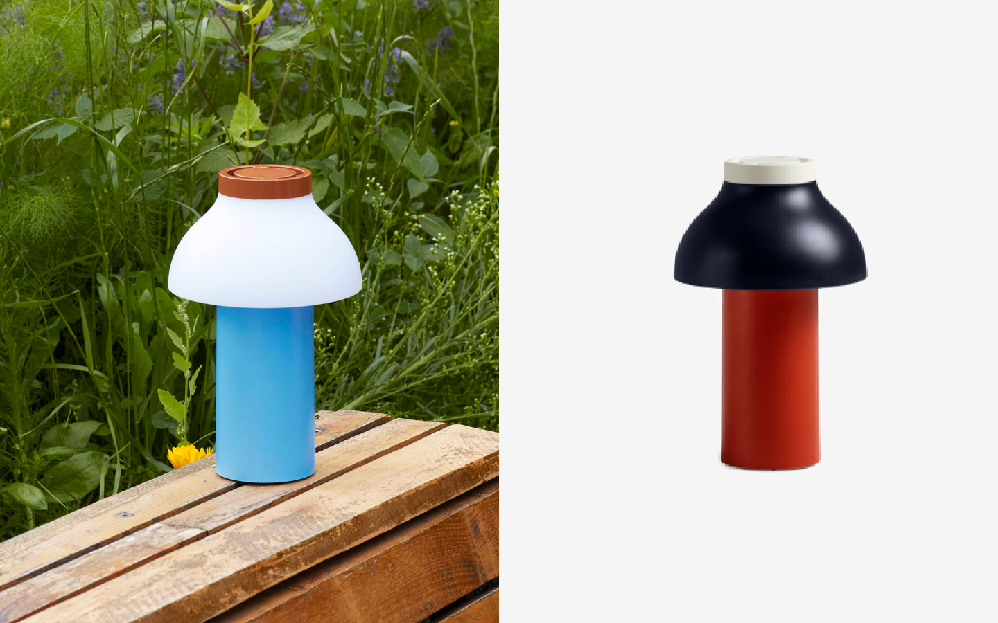 Wireless colourful table lamp