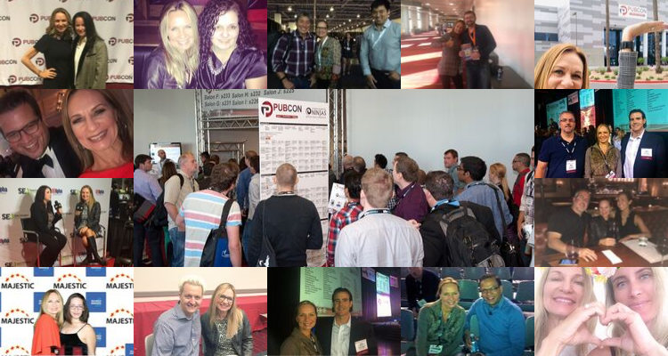 collage of old pubcon photos