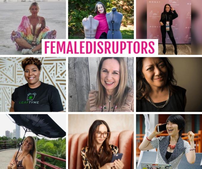 collage of female disruptors
