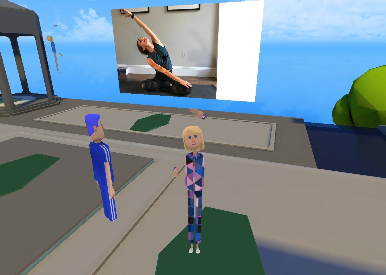 VR image of AltSpaceVR