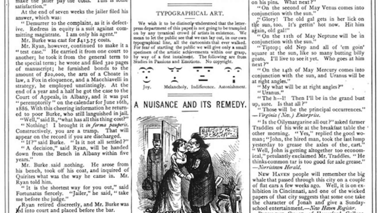 old newspaper looking image
