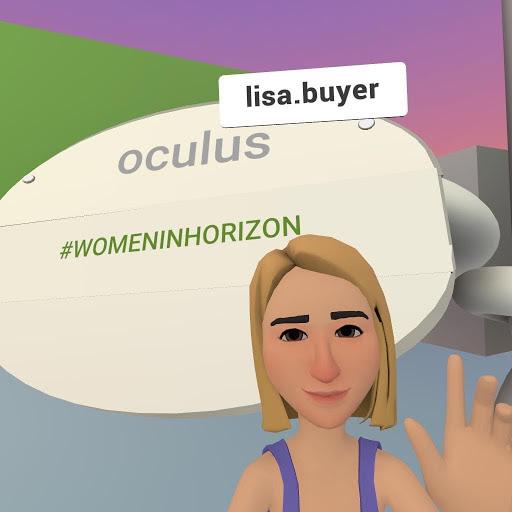 Lisa Buyer in VR Facebook hoizon