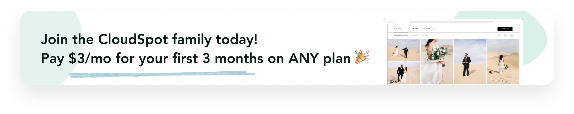 Pay $3/mo for first 3 month on any plan
