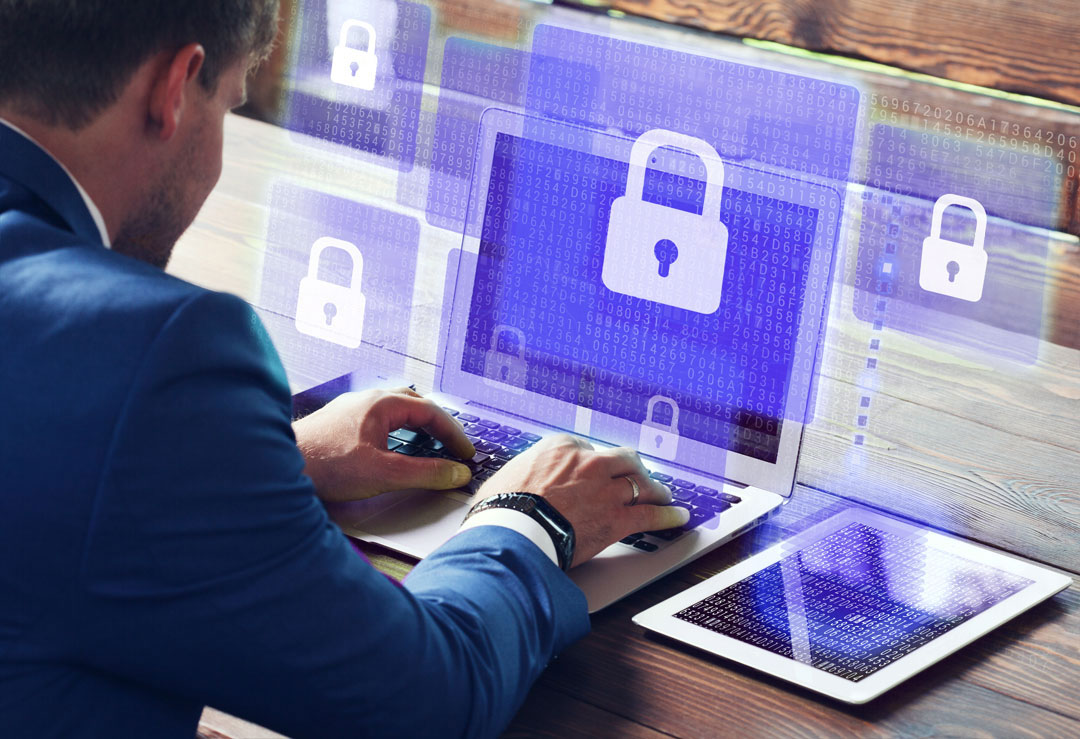 cybersecurity protection on laptop