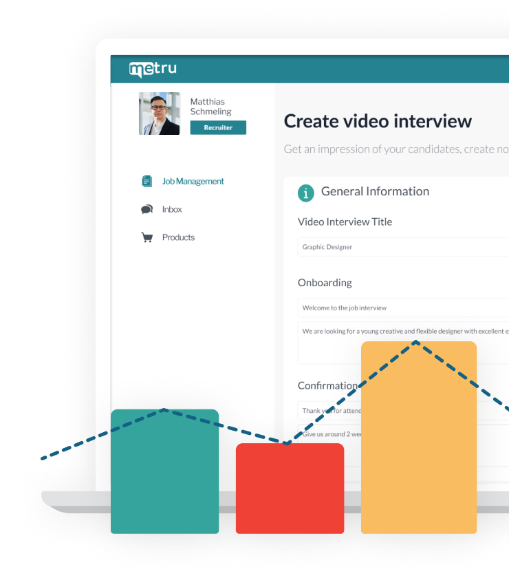 """Screenshot of the """"Create video interview"""" page of metru"""