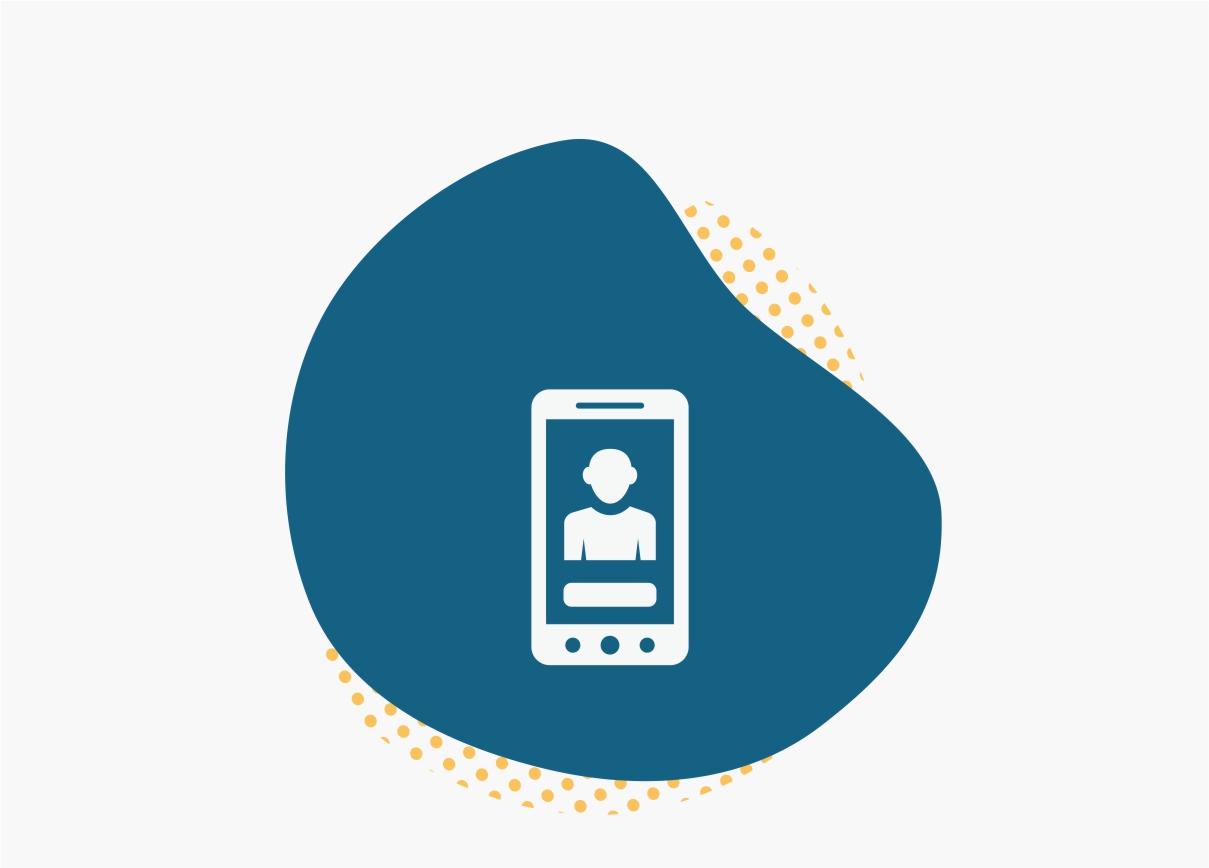 Blue Smartphone Icon