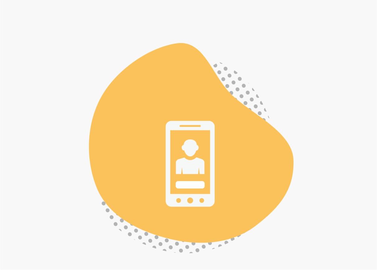 Orange Smartphone Icon
