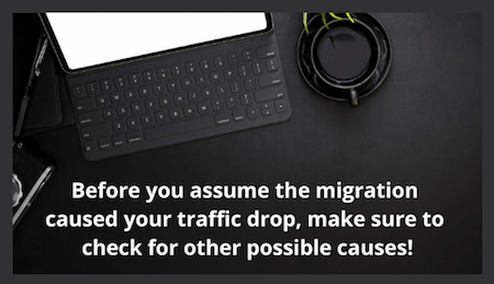 did-the-migration-cause-traffic-loss