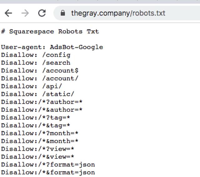 robots.txt example