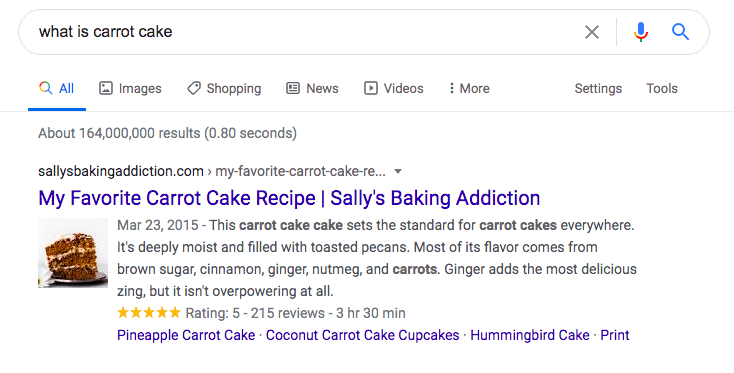 what-is-carrot-cake-user-search-intention
