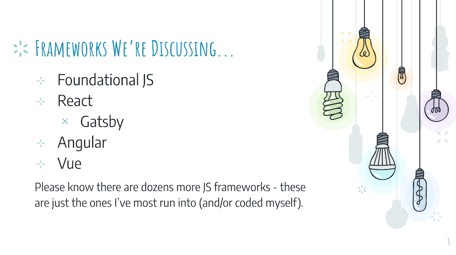 JaveScript frameworks we're discussing with in the context of SEO