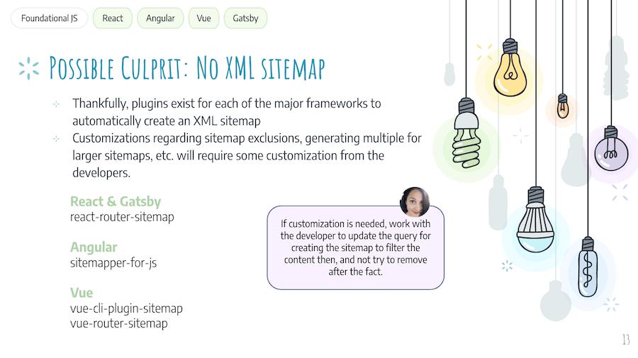 JS SEO Issue: No XML Sitemap