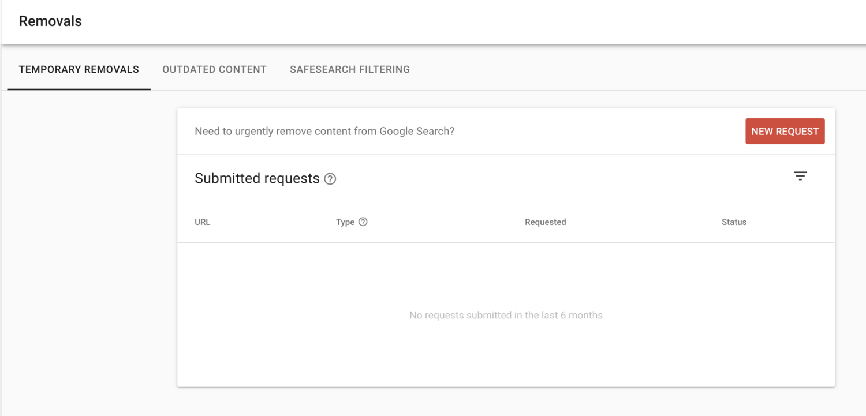 Remove URL Tool Dashboard