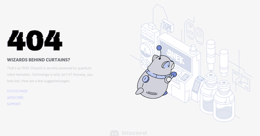 Discord's 404 Page Template