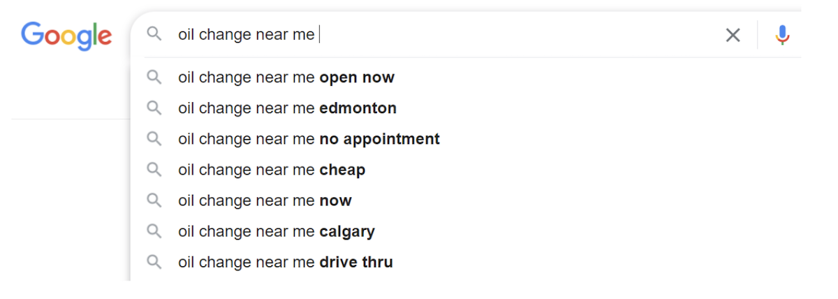 Google search suggestions via autocomplete