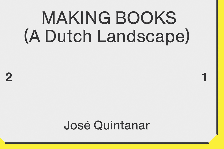Making Books (A Dutch Landscape)