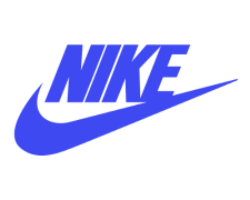 Nike Logo in Blue