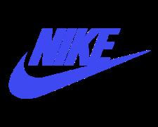 Nike Logo in Blue