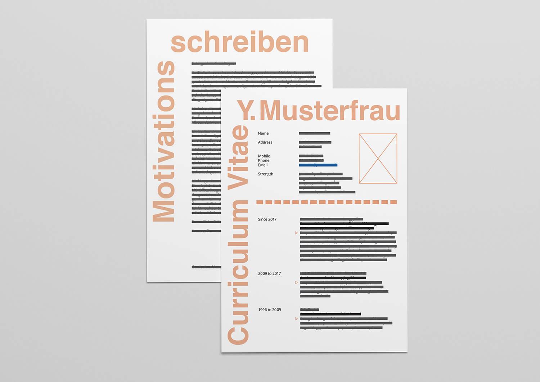 cv gestaltung titelbild projektseite