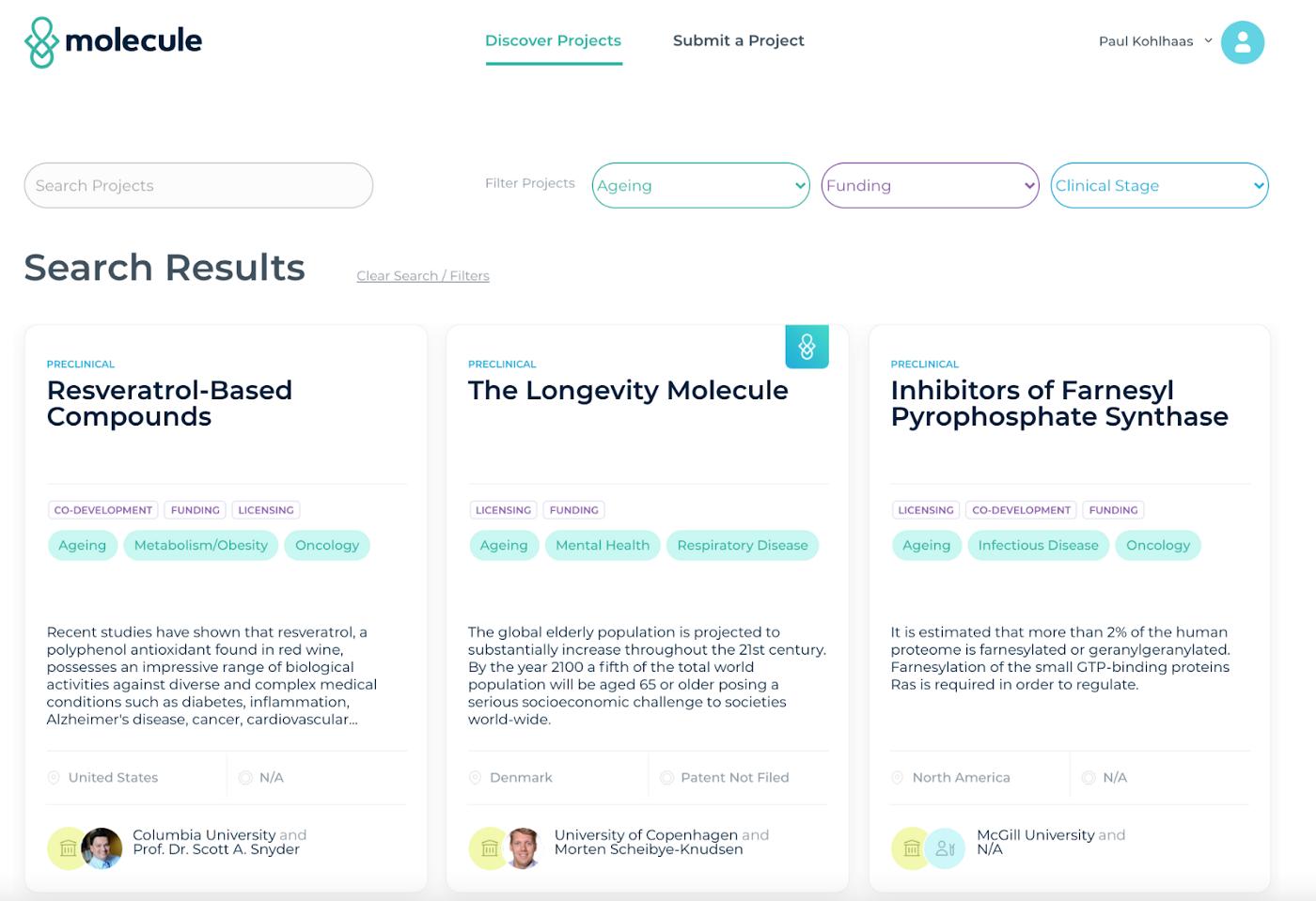 An Open Bazaar for Drug Development: Molecule Protocol