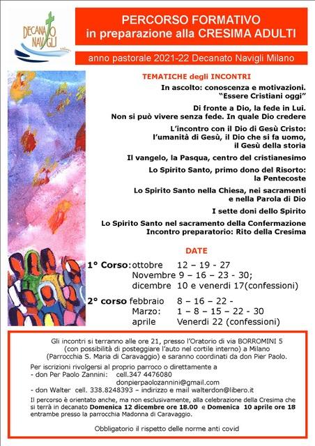 Anno pastorale 2021-22 Decanato Navigli Milano