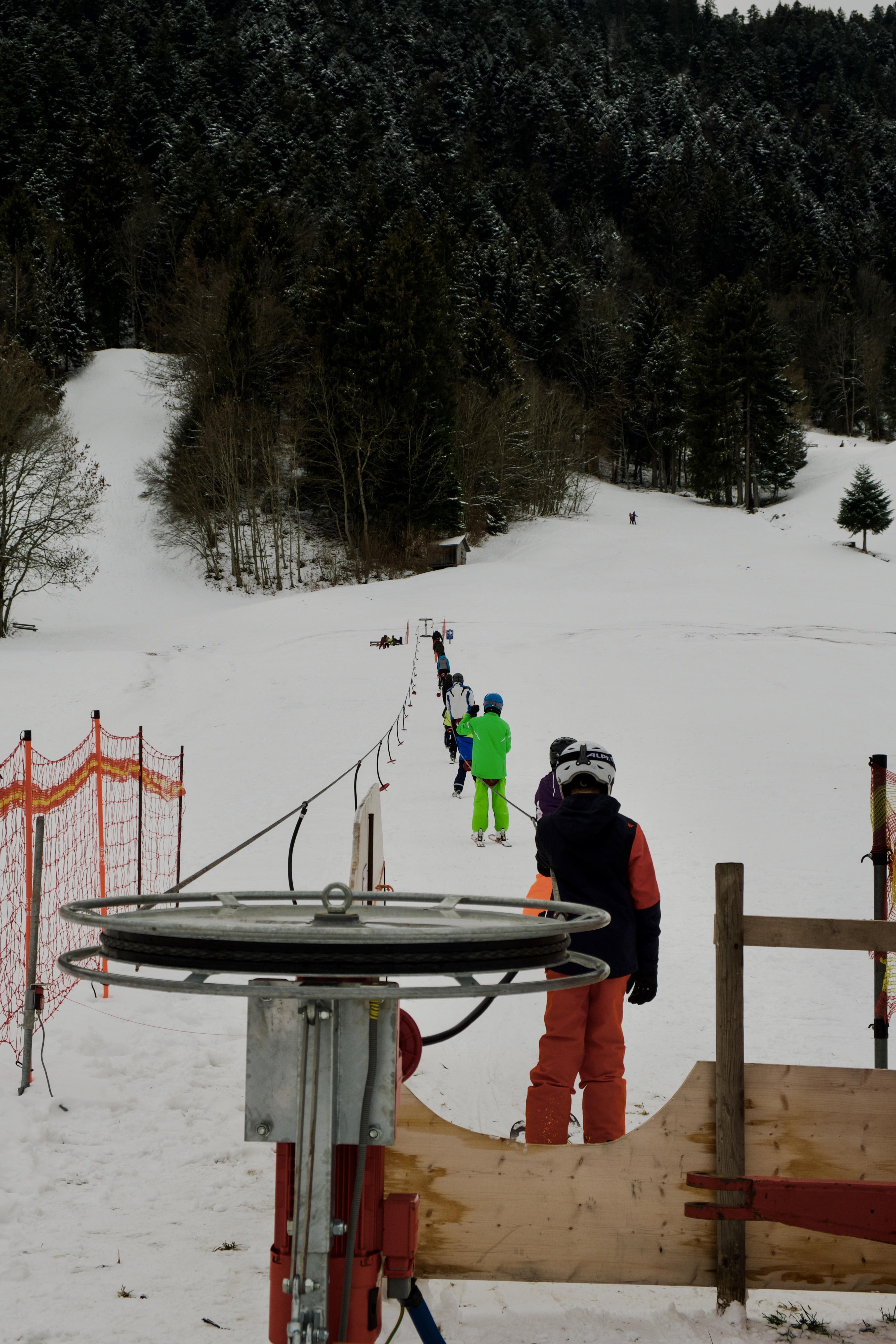Skifahren am Baliefer