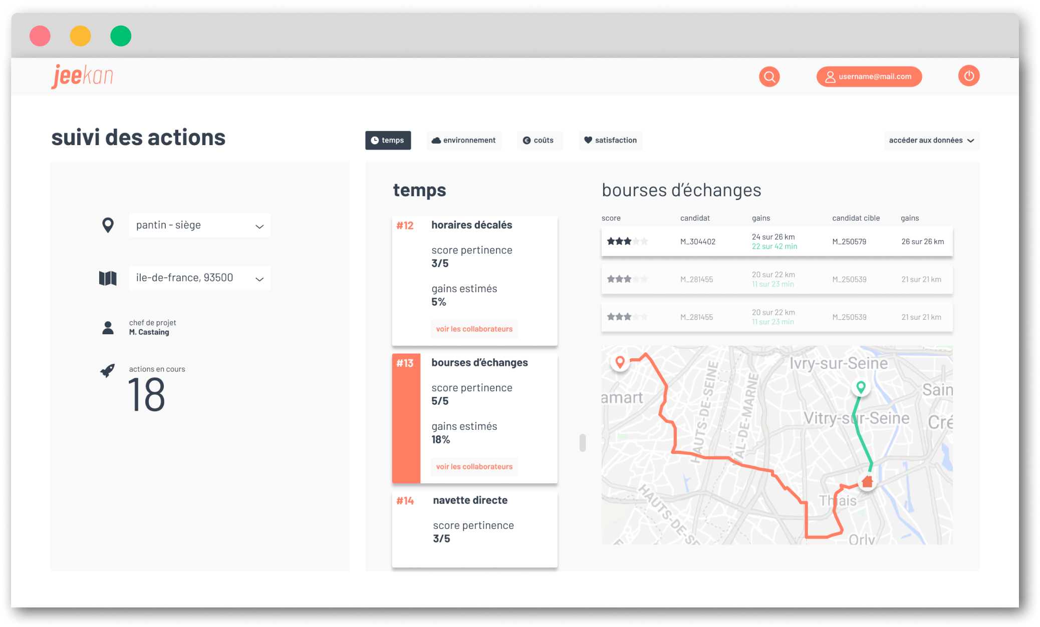 screenshot of jeekan solution