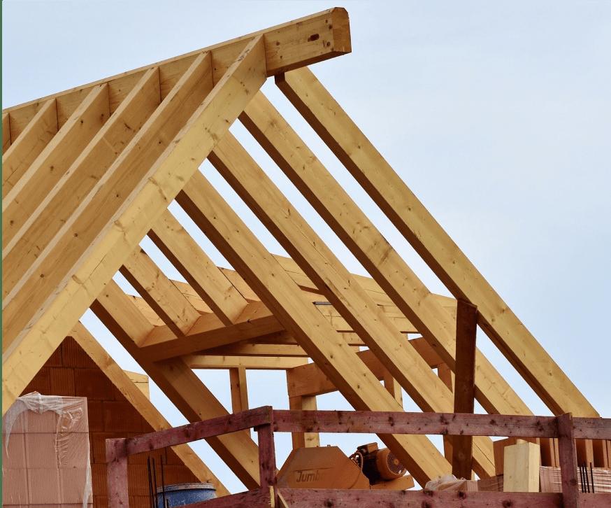 Dachstuhl und Dachkonstruktion
