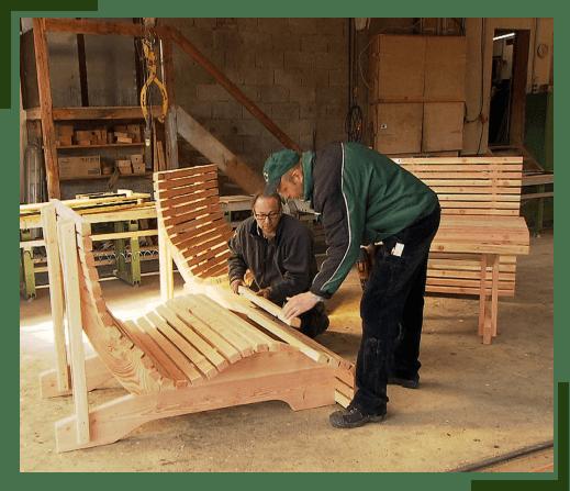 Bau und Konstruktion eines Waldsofas