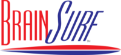 Corporate Logo Red and Blue Brainsurf
