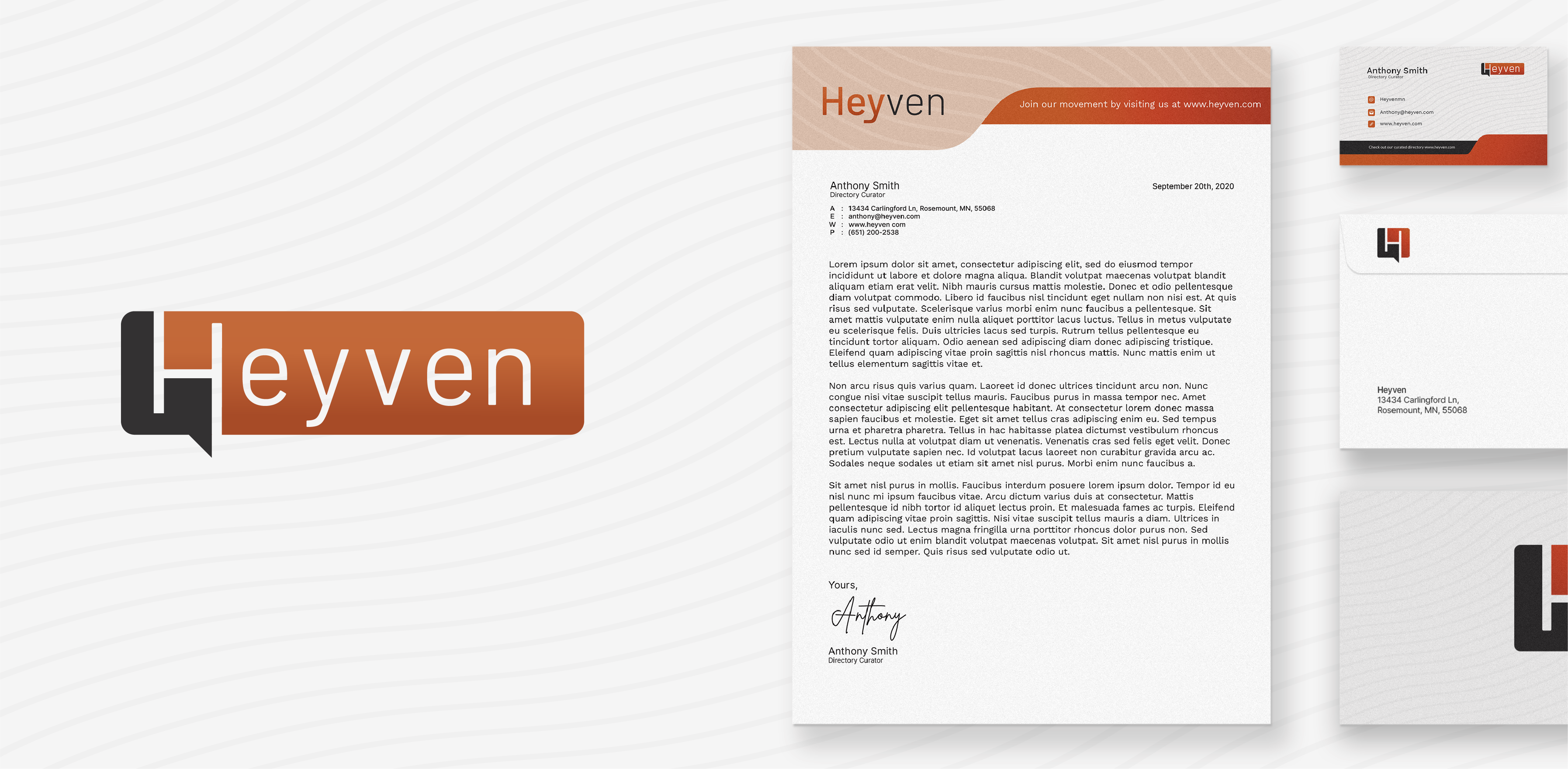 Heyven Print Materials Mock Up