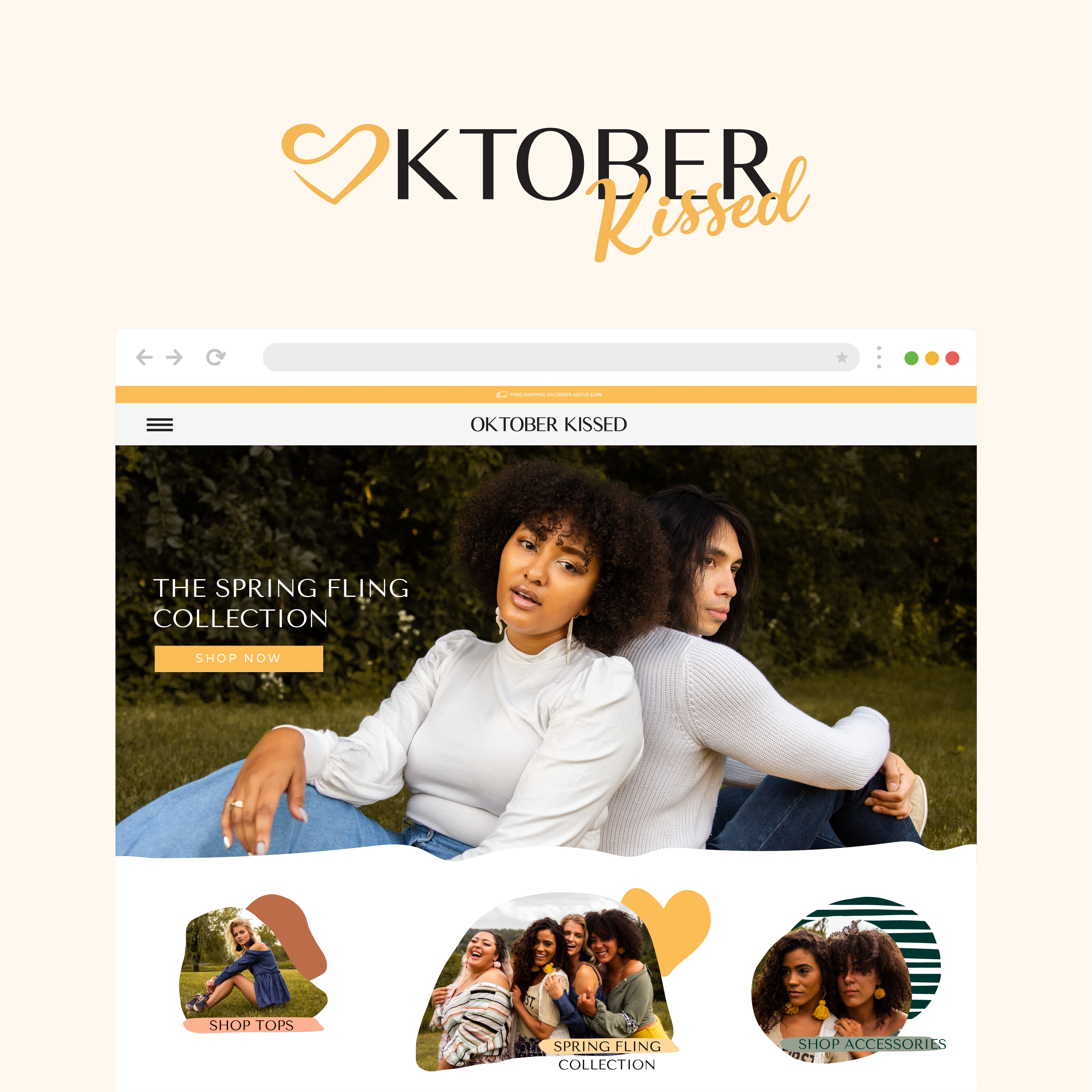 Oktober Kissed Website Mock Up