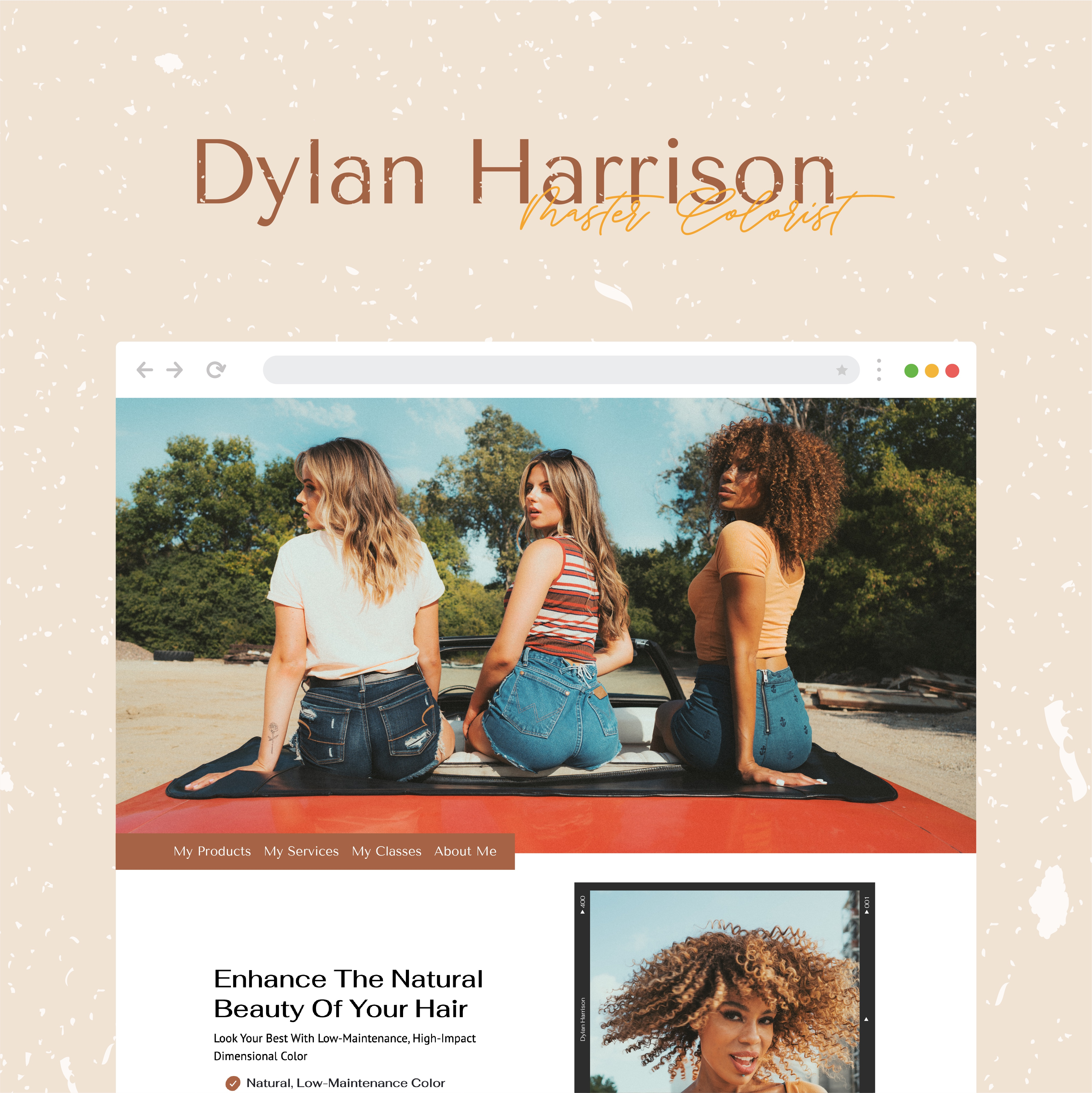Dylan Harrison Website Mock Up