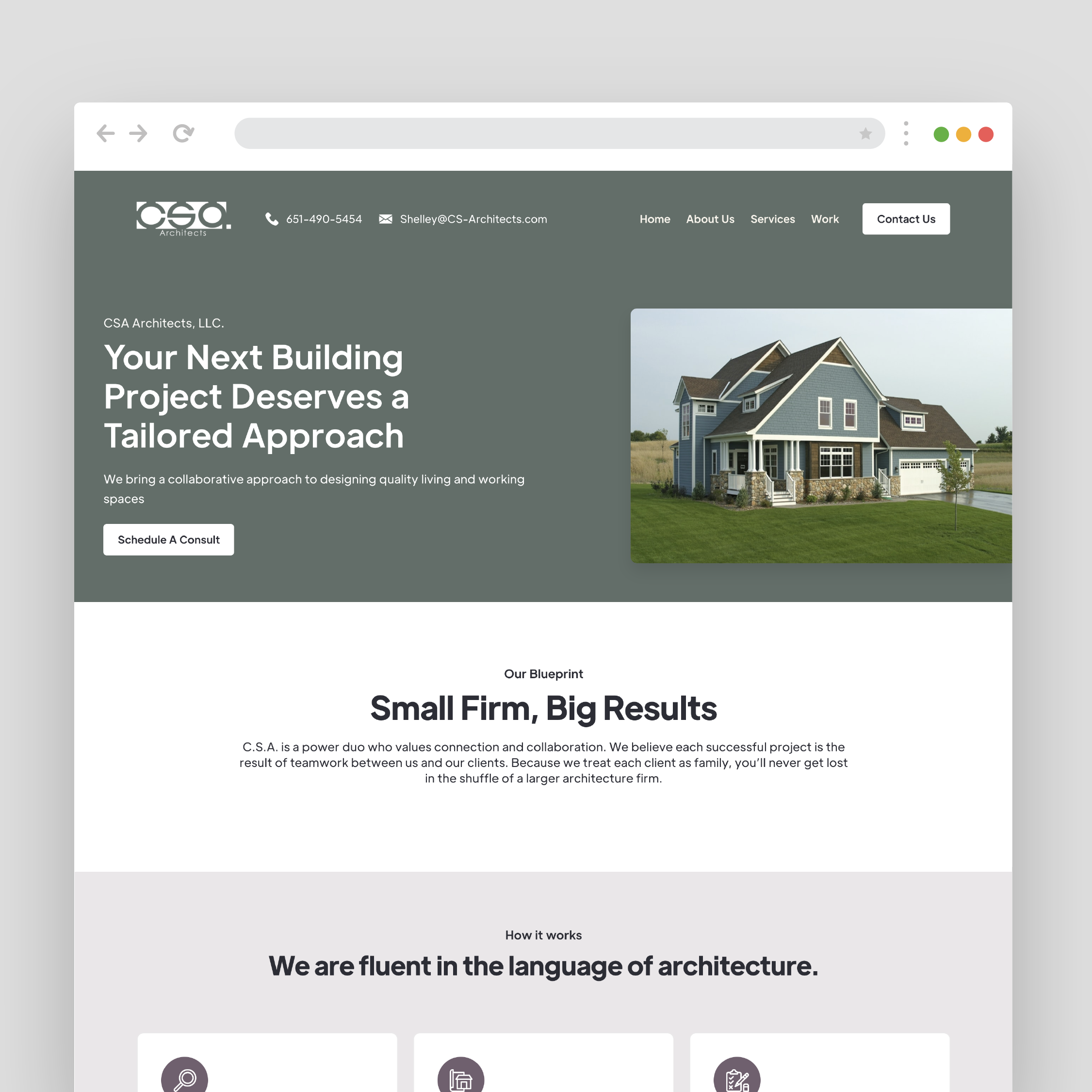 Website created for CSA architects by VZNCY