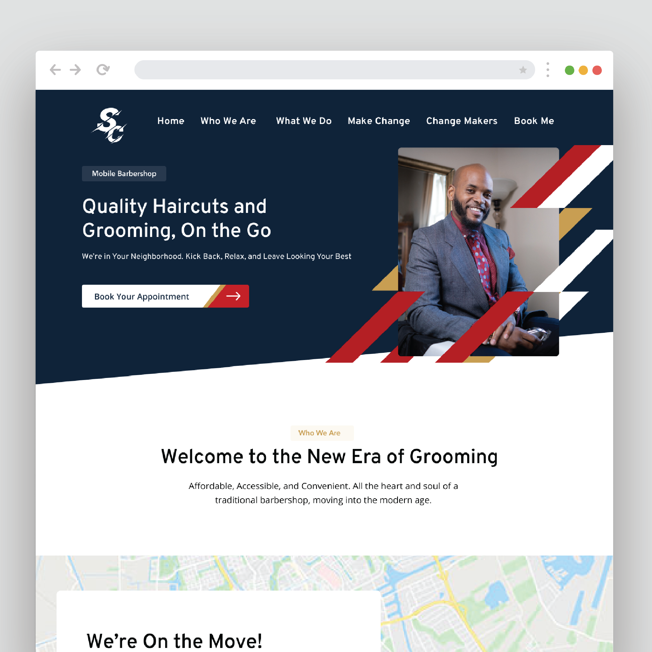 Website created for Shuttle-Cutz by VZNCY