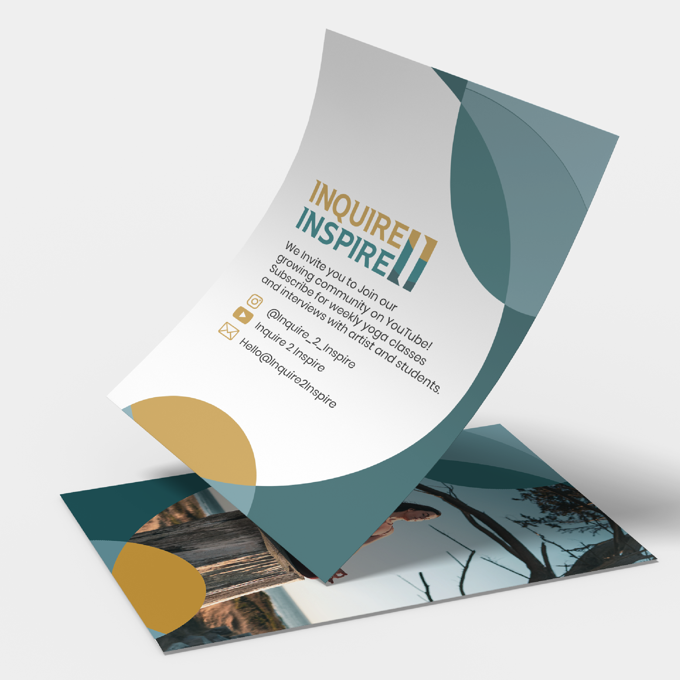 Branding created for Inqiure 2 Inspire by VZNCY