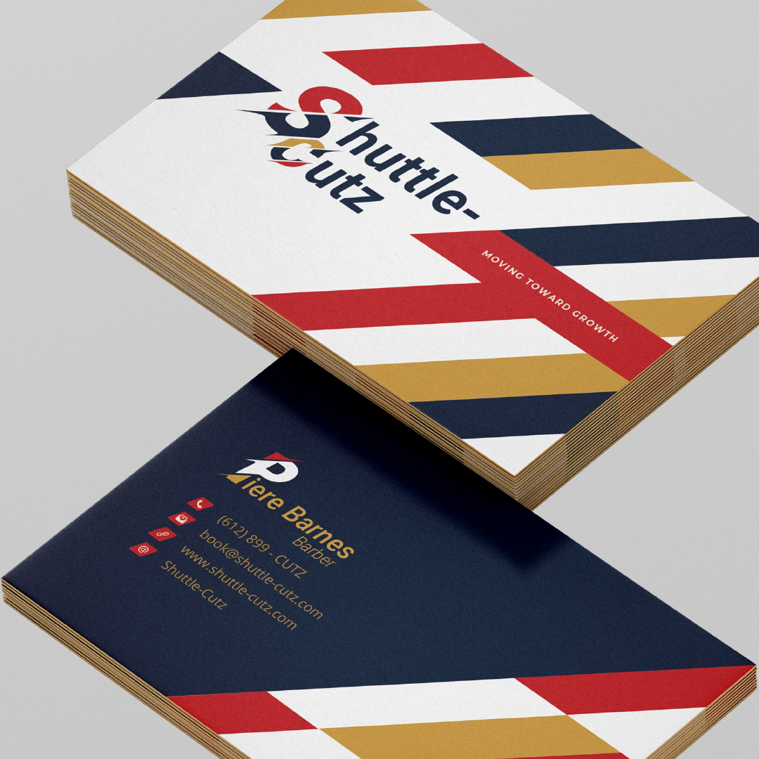 Business Cards created for Shuttle-Cutz by VZNCY