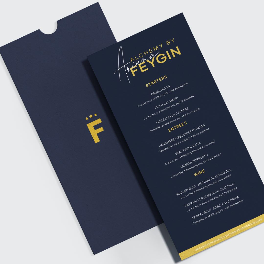 Menu created for Ariana Feygin by VZNCY