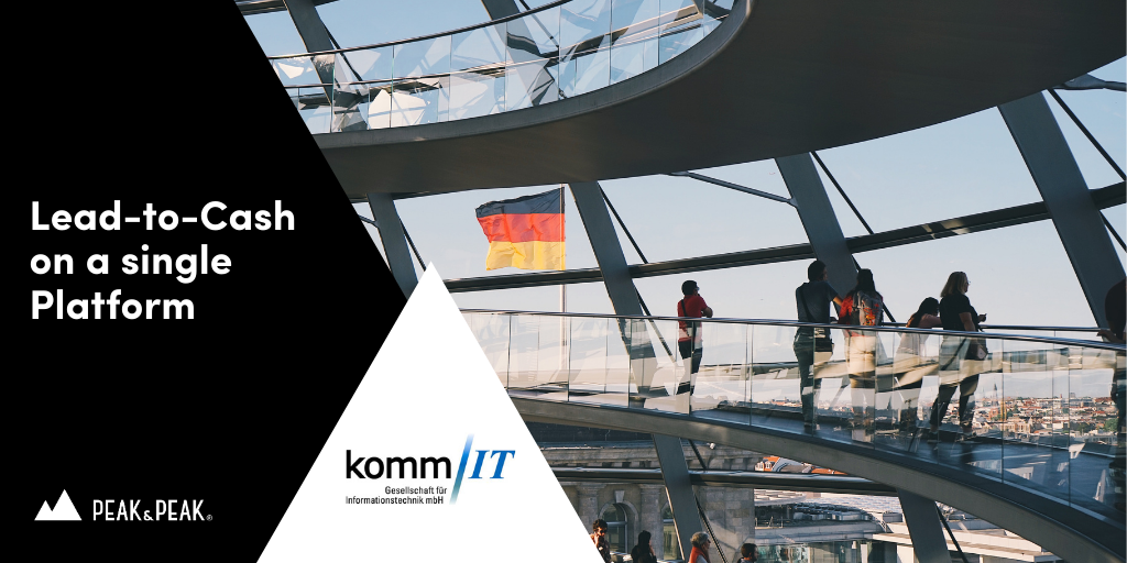 Lead-to-cash on a digital business platform - Yet another success story of kommIT and Peak & Peak