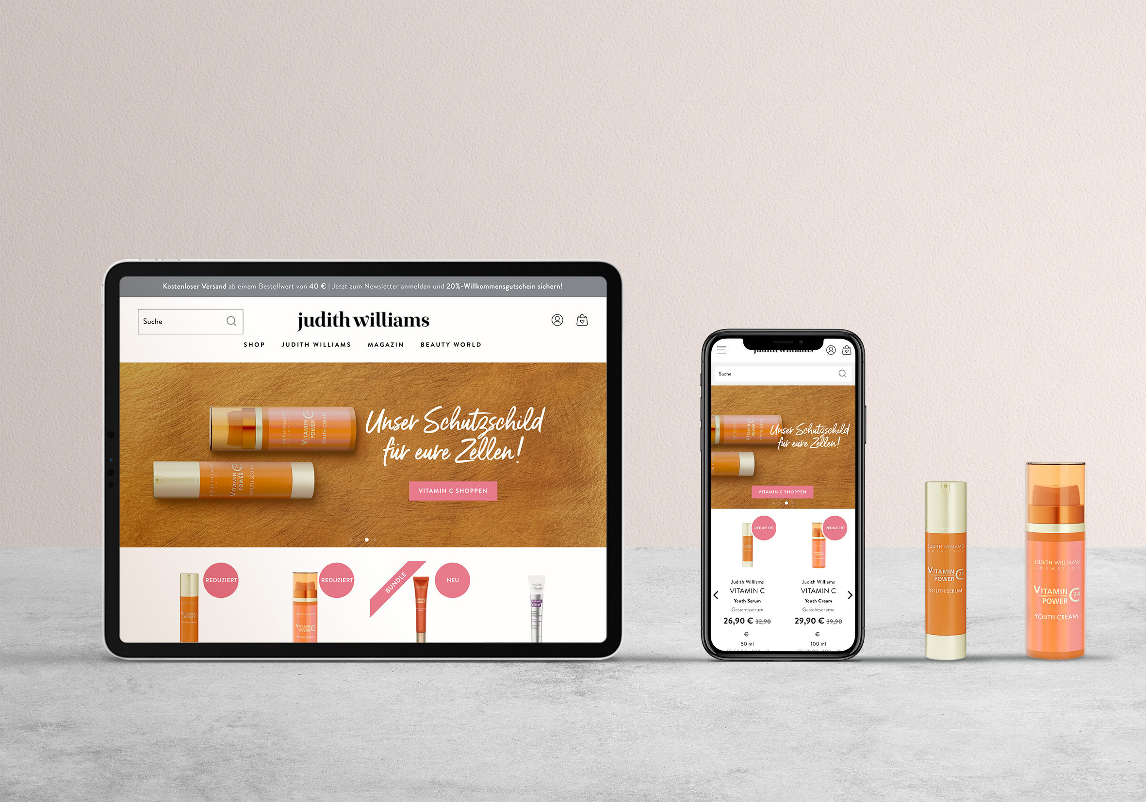 Taking the CURA Cosmetics Group and Judith Williams Cosmetics direct to the consumer