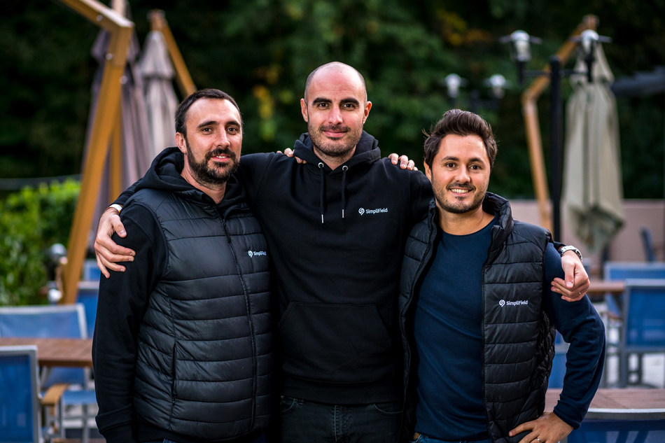 SimpliField founders Benjamin Zenou, Jonathan Attal and Georges Plancke, who recently announced a $11M funding round to fuel U.S. and international growth.