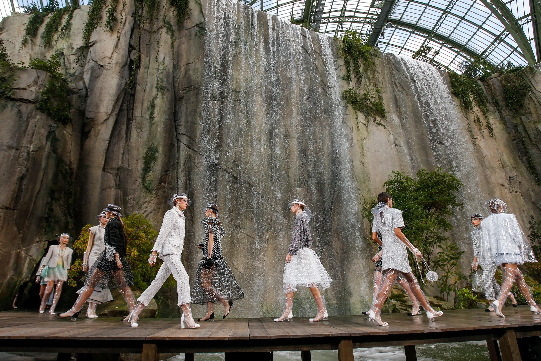 Chanel fashion show runway