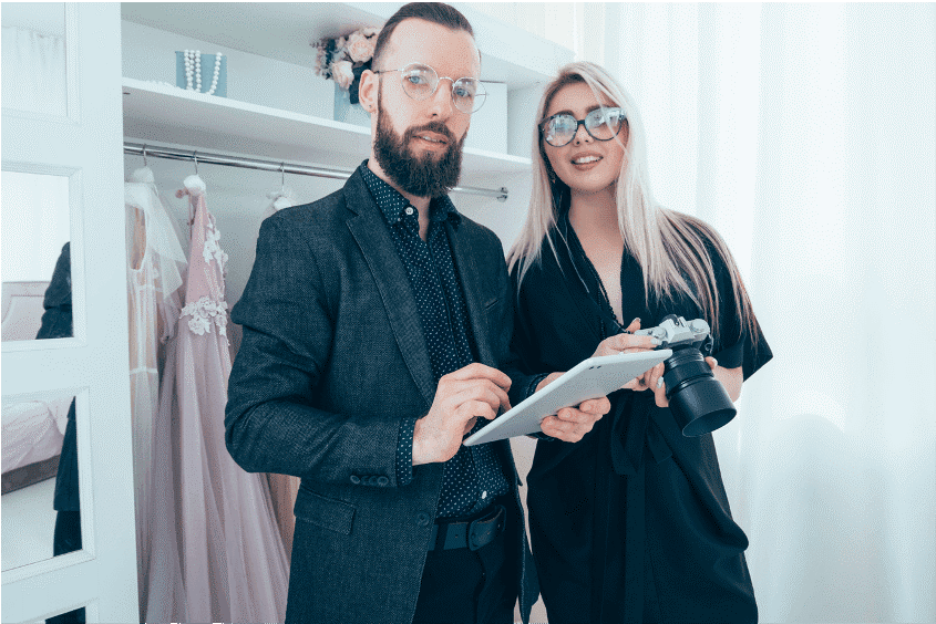 Fashion brand employees using SimpliField