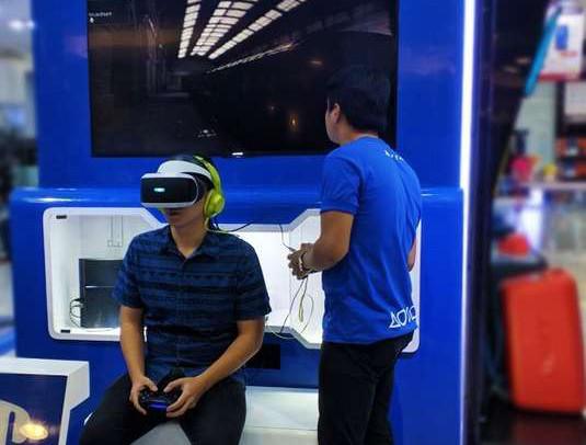Sony PlayStation VR setup