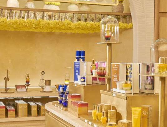 L'Occitane display in a store